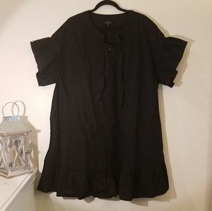 LUCKY Brand Plus Size Lace up Black Dress 2X